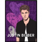 Justin Bieber Heartbreak Plush Throw Blanket Twin/Full Size 60x80 (Size