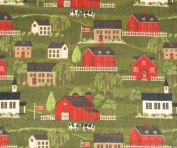 Country Village Throw Blanket