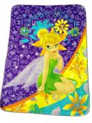 Disney Tinkerbell Garden Blooms Twin Size Raschel Mink Blanket Throw