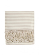 Nine Space Viscose from Bamboo Striped Throw Blanket, Mustard, 130cm x 180cm