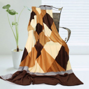 Onitiva - [Plaids - Traces of Dreams] Soft Coral Fleece Patchwork Throw Blanket