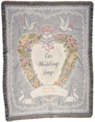 Tapestry Throw Our Wedding Day Blanket