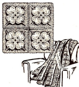 Vintage Crochet PATTERN to make - Afghan Throw Dogwood Flower Design. NOT a finished item. This is a pattern and/or instructions to make the item only.