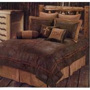 Western Rustic Country Praying Cowboy Comforter Cross Bedding Set 5pc Queen