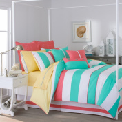 Southern Tide 230cm by 240cm Cabana Stripe Comforter Set, Queen