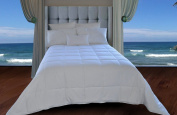 Natural Comfort White Down Alternative Comforter with Embossed Microfiber Cover, Light Weight Filled