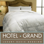 Hotel Grand Oversized 500 Thread Count All-season Siberian White Down Comforter- Twin.