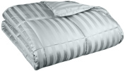 Oversized All-Season Luxurious Wide Stripes Down Alternative Comforter, Full/Queen, Jade
