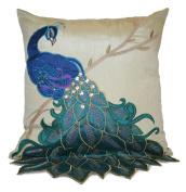 Thro by Marlo Lorenz 4182 Fancy Peacock 41cm by 41cm Pillow, Multi