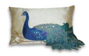 Thro by Marlo Lorenz 4183 Fancy Peacock 30cm by 50cm Pillow, Multi