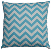 JinStyles Cotton Canvas Chevron Striped Accent Decorative Throw Lumbar Pillow Cover