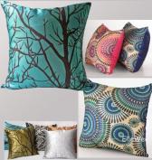ElleWeiDeco Modern Cyan Blue Throw Pillow Cover