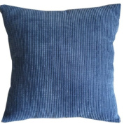 Solid Sea Blue Corn Kernels Pattern Polyester Throw Pillow Covers Pillowcase Sham Decor Cushion Slipcovers Square 43cm x 43cm