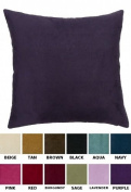 DreamHome - Solid Faux Suede Euro Pillow Cover, 70cm X 70cm , Available in 12 Colours
