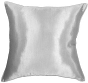 Artiwa 41cm x 41cm Silk Couch Bed Decorative Throw Accent Pillow Cover : Solid Silver Grey