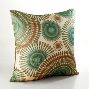 ElleWeiDeco Openwork Embroidery Turquoise Throw Pillow Cover