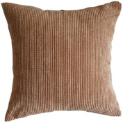 Solid Coffee Brown Corn Kernels Pattern Polyester Throw Pillow Covers Pillowcase Sham Decor Cushion Slipcovers Square 43cm x 43cm