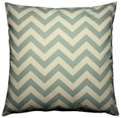 JinStyles Cotton Canvas Chevron Striped Accent Decorative Throw Pillow Cover