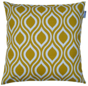 JinStyles Cotton Canvas Ogee Accent Decorative Throw Pillow Cover