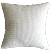 Solid Cream White Corn Kernels Pattern Polyester Throw Pillow Covers Pillowcase Sham Decor Cushion Slipcovers Square 43cm x 43cm