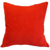Solid Red Corn Kernels Pattern Polyester Throw Pillow Covers Pillowcase Sham Decor Cushion Slipcovers Square 43cm x 43cm