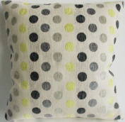 Decorative Green/black Dots Chenille Throw Pillow Cover
