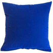 Royal Blue Solid Colour Flocking Velvet 100% Polyester Throw Pillow Covers Pillowcase Sham Decor Cushion Slipcovers Square 48cm x 48cm