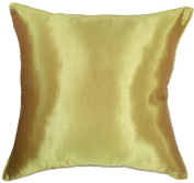 Artiwa 50cm x 50cm Solid Vegas Gold Silk Decorative Throw Accent Pillow Cover - Gift Idea