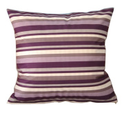 Purple Stripes Cotton Blend Polyester Throw Pillow Covers Pillowcase Sham Decor Cushion Slipcovers Square 50cm X 50cm