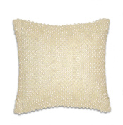 Thro by Marlo Lorenz 1170 All Over Pearl 30cm by 30cm Pillow, Ivory