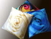 Decorative Modern White Blue Yellow Red Purple Rose Throw Pillow Cover