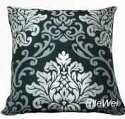 Decorative Modern Damask Black Throw Pillow Cover