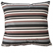Black and White Stripes Cotton Blend Polyester Throw Pillow Covers Pillowcase Sham Decor Cushion Slipcovers Square 50cm x 50cm
