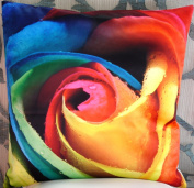 Decorative Modern Colourful Rose Throw Pillow Cover