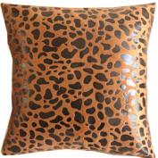 Coffee Fashional Leopard Printed Throw Pillow Covers Pillowcase Decor Cushion Slipcovers Square 42cm x 42cm