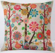 Elleweideco Quilting Weight Linen Print Throw Pillow Cover