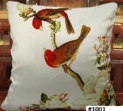 Elegant Decorative Pillow / Cushion Cover - Bird Tree Flower Design on Both Sides - Soft Velvet Fabric - Multi Selections