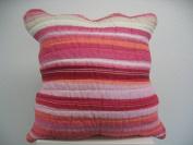 DaDa Bedding Stunning Stripe Cushion Cover 18 by 18