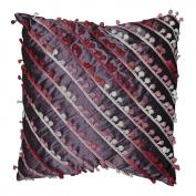 Purple Silk Decorative Cushion Cover