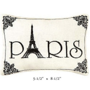 """""""Paris"""" - Small/Cute Embroidered ACCENT """"Pillow"""""""