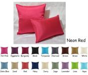 Creative Faux Silk Solid Decorative Pillows / Throw Pillows
