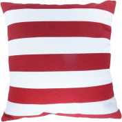 Decorative Printed Stripes Throw Pillow Cover 46cm Red