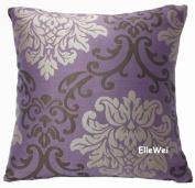 ElleWeiDeco Modern Damask Purple Throw Pillow Cover