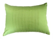 Dreamhome - Solid Faux Silk Pleated 30cm X 46cm Decorative Pillow Cover - Lime