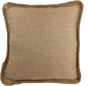 Decorative Hamp Rope Piping Throw Pillow Cover 46cm Brown