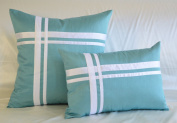 Creative Faux Silk Stripe Throw Pillow and Pillow Cover - Multi Size / Colour