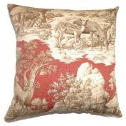 The Pillow Collection Feramin Toile Pillow