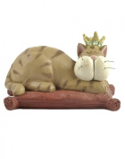 Cat with Crown on Pillow