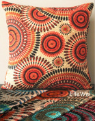 ElleWeiDeco Openwork Embroidery Orangered Throw Pillow Cover