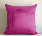 Creative 18 by 18 Solid Dec-Pillow with Pintucks - 12 Colour